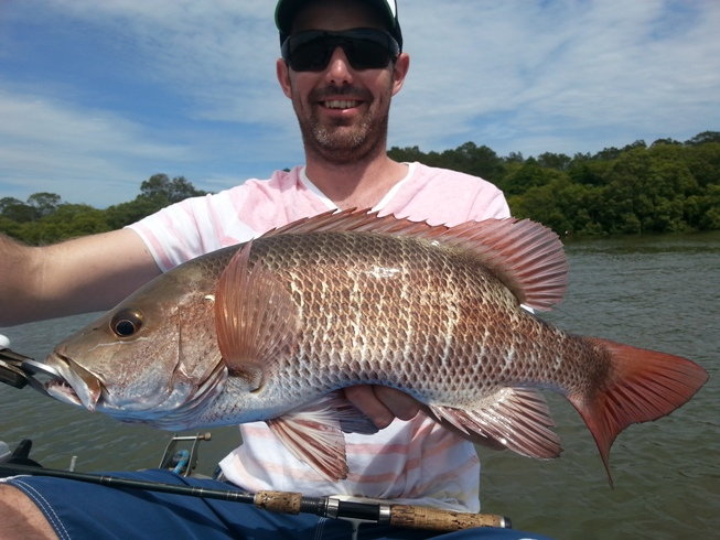 Anglers Advantage Fishing Charters Sunshine Coast-Jamie Whateley-Mangrove Jack 2-01-2014 2