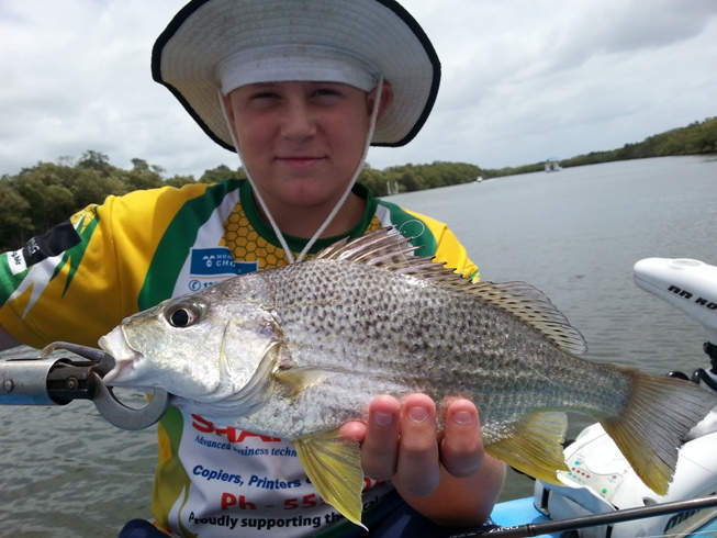 Anglers Advantage Fishing Charters Sunshine Coast-Jayden Sharp-Grunter Bream 8-01-2014