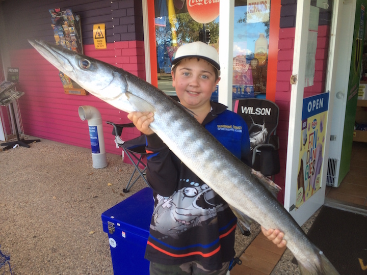 Jarvis Henricks took this 10kg barracuda over night in the Cod Hole in the Cod Hole Fishing comp 1