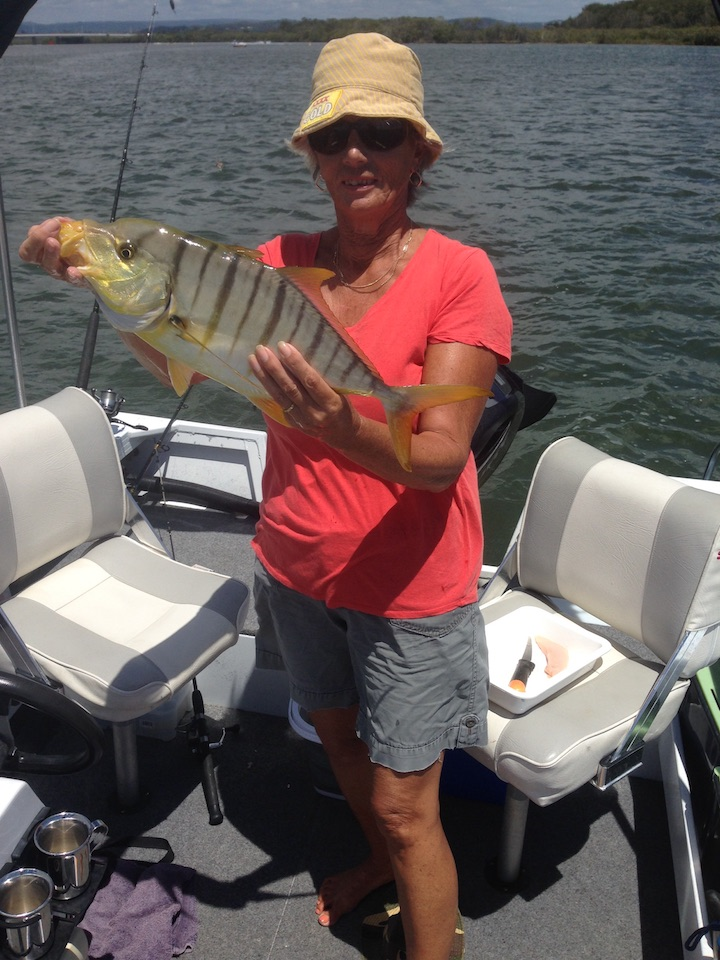 Bev Clark Golden Trevally Lower Reaches Maroochy