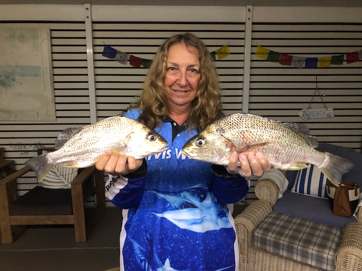 Chrissy Bell with spotted Grunter up to 42cm